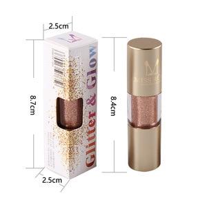 Image 4 - MISS ROSE 8 kolor metalowy cień do powiek Shimmer ciepłe kolory wodoodporny połysk z wzorem pojedynczego oka cień płyn matowy makijaż cień TSLM2