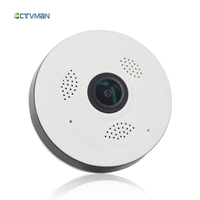 CTVMAN Mini Wifi IP Camera 1080P Panoramic 360 Degree Cam with 16GB SD Card Wireless Surveillance Network Security Baby Monitors
