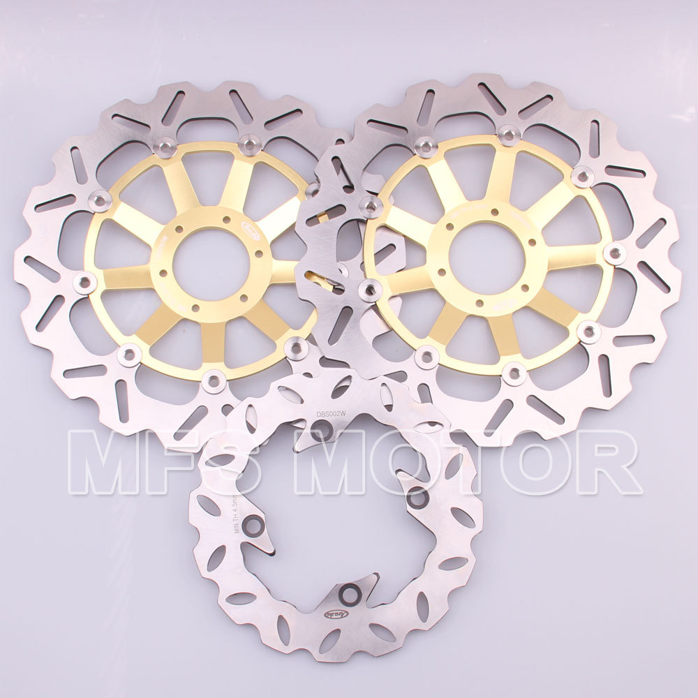 Motorcycle Accessories Front Rear Brake Discs Rotor For Honda CBR 900 RR 919 1998 1999 CBR 900 RR  98 99 CBR900RR 919 98 99 Gold mfs motor motorcycle part front rear brake discs rotor for yamaha yzf r6 2003 2004 2005 yzfr6 03 04 05 gold