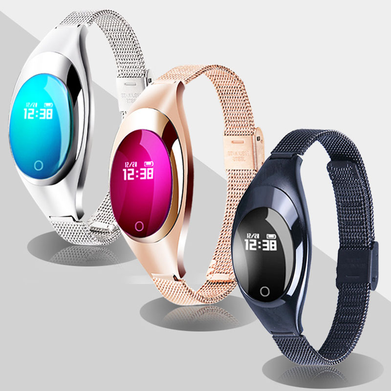Montre Smart Watch Femmes Moniteur de Fréquence Cardiaque Femme Poignet Intelligent Montres Numérique Intelligent De Luxe Bracelet Podomètre Calories Smartwatch