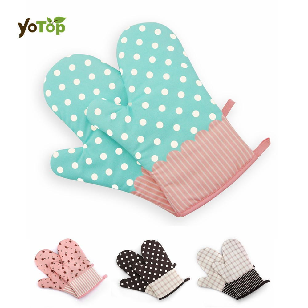 YOTOP 1pcs Non slip Cotton Microwave Oven Glove Heat Resistant thick ...
