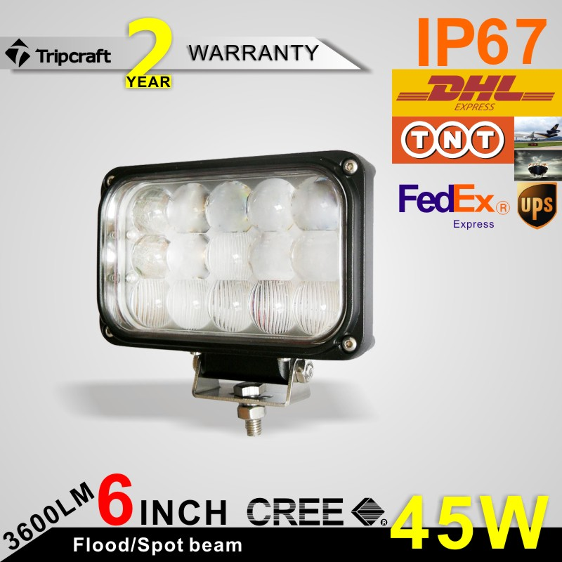 6 Inch 45W LED Work Light for Indicators Motorcycle Driving Offroad Boat Car Tractor Truck 4x4 SUV ATV combo 12V high bright combo 120w 21 inch offroad cree led work light bar for driving tractor truck suv atv car garden backyard 12v 24v