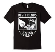 Comfortable Crew Neck Men Short Gift Schnauzer Best Friends Shirts Casual  Cotton O-Neck t-shirt Print Broadcloth