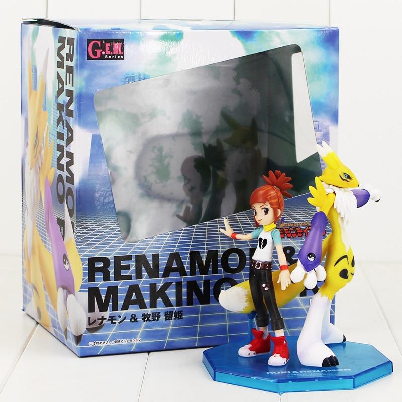 13 15 5cm Renamon and Makino Ruki cute Figure Model Toy Hot Japanese cartoon Digimon Adventure