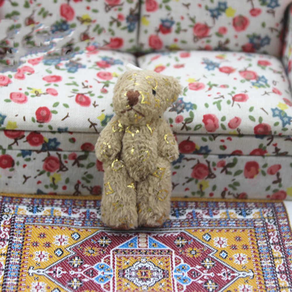 1 шт. 1/12 кукольный домик Миниатюрные аксессуары плюшевый маленький мишка моделирование Миниатюрная игрушка для животных мебель для кукла украшение для дома