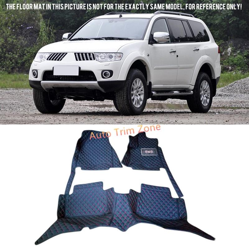 New Black Interior Floor Mats & Carpets For Mitsubishi Pajero Sport/Montero Sport 5-Seat 2011-2016 interior black floor mats
