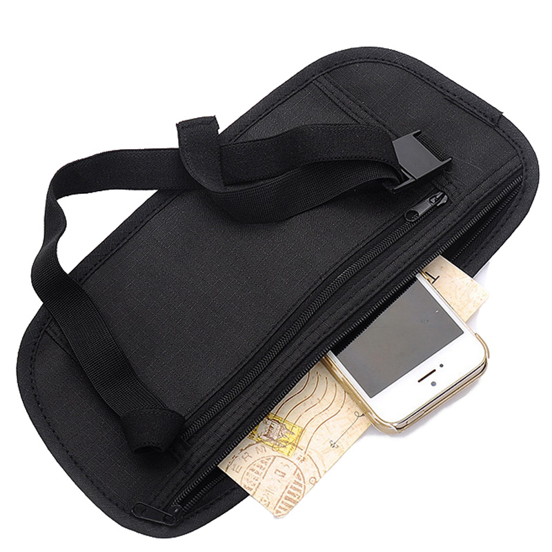 Lightweight Woman Men Running Waist Bag Belt Mobile Phone Pack Sports Pack Business Portable Bags Card Paperwork Pouch 2 Color