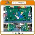Pequeña meta inflable para los niños/material de PVC inflable gol