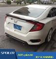 For Honda Civic Spoiler of the tail Material Car Rear Wing Primer Color Rear Spoiler For Honda Civic Spoiler Thailand RS 2016