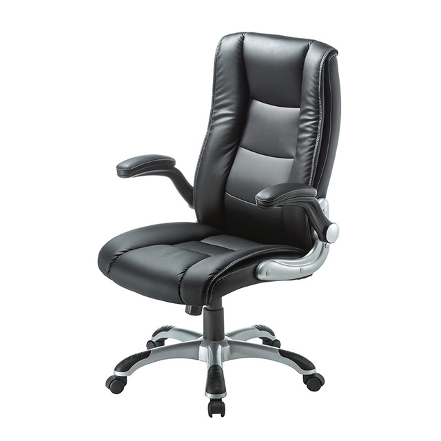high back bonded leather executive chair w extra arm pad and flip