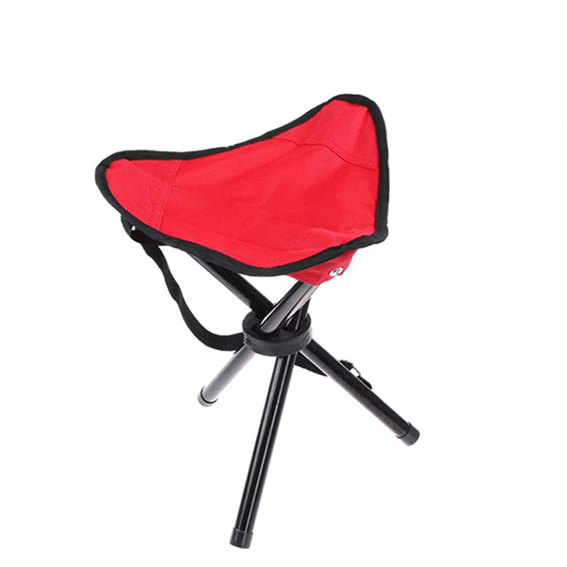 Red Outdoor Chair Stools Portable Foldable Small Size Fishing Picnic Beach Chairs Home Use H193-1 outdoor traveling camping tripod folding stool chair foldable fishing chairs portable fishing mate fold metal chair