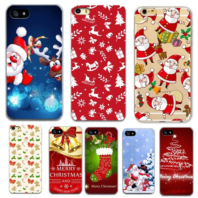 ce2a1a6ce8 Funny Santa Claus Merry Christmas Case For iPhone X 8 8 Plus 7 7 Plus 6 6S  5 5S SE Case Cover Soft Silicon TPU Coque Capa
