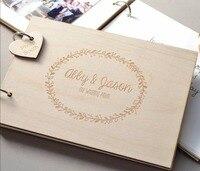 個人化花輪結婚式のゲストブックのギフト用カップルの素朴なゲストブックのブライ