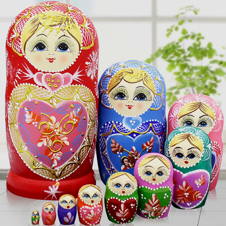 10 Layers/set 22cm Baby Toy Nesting Dolls Wooden Russian Dolls Matryoshka Doll Children Christmas Gift10 Layers/set 22cm Baby Toy Nesting Dolls Wooden Russian Dolls Matryoshka Doll Children Christmas Gift