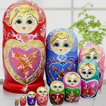 10 couches/ensemble 22 cm bébé jouet nidification poupées en bois poupées russes Matryoshka poupée enfants cadeau de noël