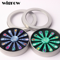 Wigrow Peacock Opens The Crystal Inlaid Fidget Beautiful Spinner Metal Fingertip Gyro Hand Spinner Autism ADHD