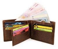Men Wallet Leather Short Wallets Male Cowhide Pocket Purse