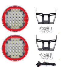 9 370W PAIR 37LED Work Light Driving Lamp Spot Lamp+Flood Cover+ON/OFF Switch ,12V 24V Led Off Road  for SUV ATV UTV