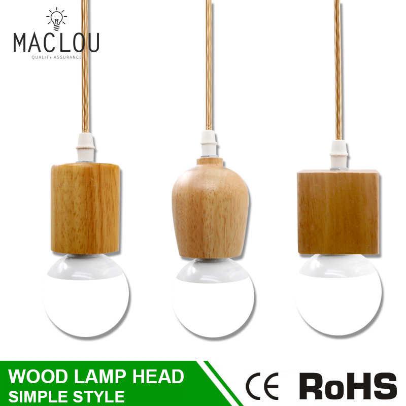Modern Pendant Light Hanglamp Kayu Kilau Suspensi Restoran Vintage Pendant Lamp LED Lampu Dapur Perlengkapan Ruang Makan