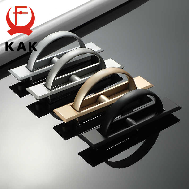 KAK Pearl Gray Cabinet Handles Gold Black Solid Zinc Alloy Kitchen Cupboard Pulls Drawer Knobs Furniture Handle Hooks Hardware