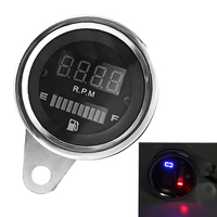 New Replacement 2 In 1 Motorcycle LED Digital Speedometer Tachometer Fuel Gauge 12V Universal Styling Shipping Free
