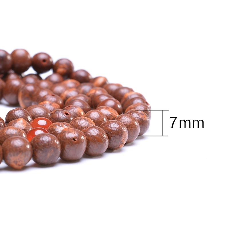 Բնական Բոդիի սերմի 108 Beads ձեռնաշղթա Mala - Նորաձև զարդեր - Լուսանկար 6