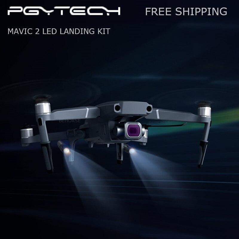PGYTECH Mavic 2 LED Landing Gear Extension Legs Holder Extended Skeletons Headlamp Set for DJI Mavic