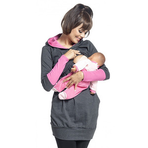 Image 5 - יולדות סיעוד הסווטשרט חורף הריון בהריון נשים סלעית חולצות T חולצה סתיו בגדי הנקה