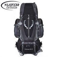 Brand YUETOR 80L Professional Outdoor Men Large Hiking Sport Bag Waterproof Nylon Hiking Women Big Capacity