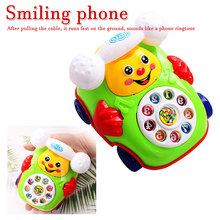 2019 New Educational Toys Cartoon Smile Phone Car Developmental Kids Toy Gift random color and style