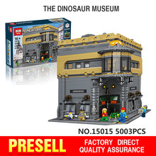 2016 New LEPIN 15015 5003pcs City Creator The dinosaur museum Model Building Kits Minifigures Brick Toy Compatible Toys Gift