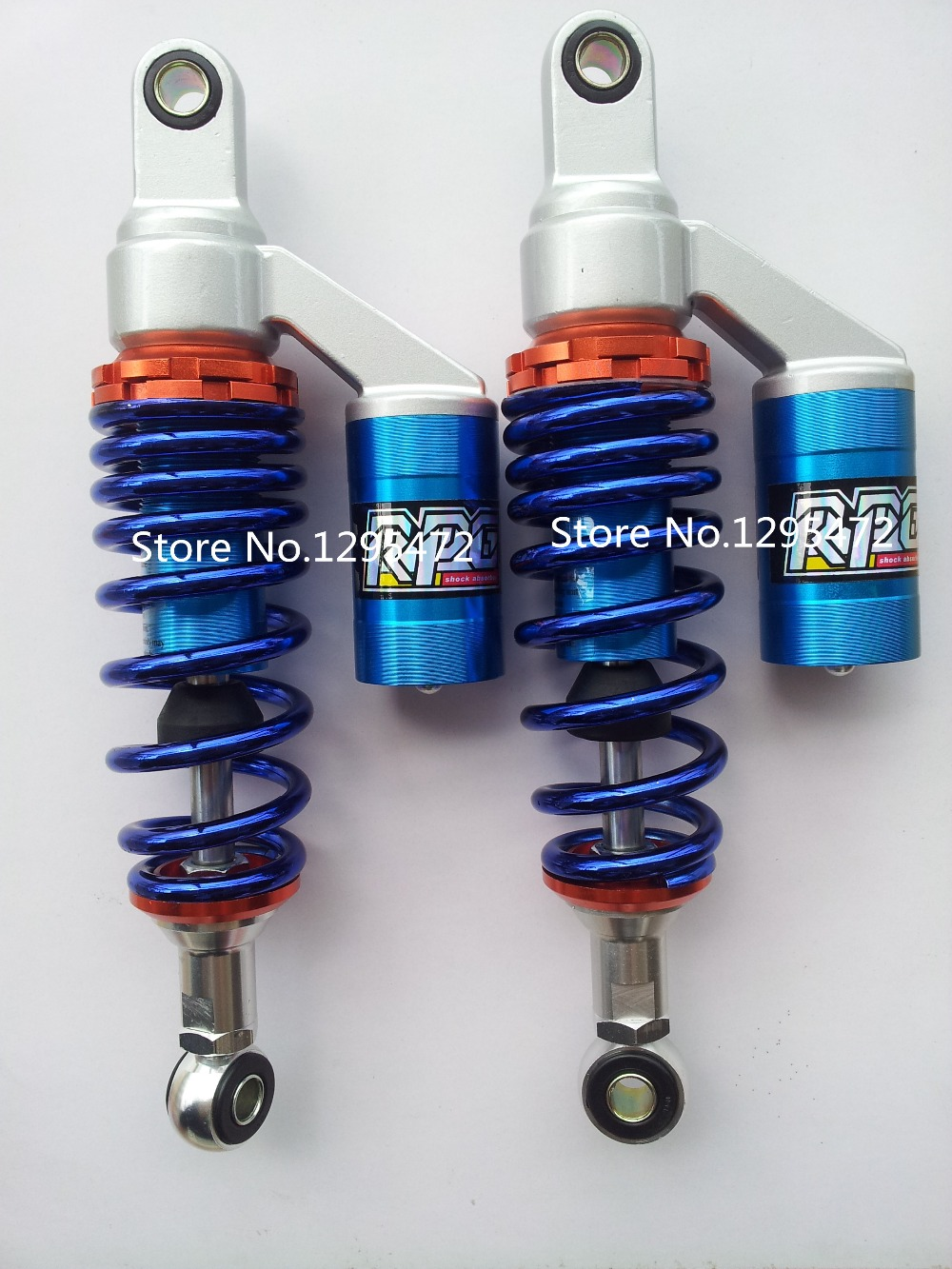 300mm   7.5mm spring  motorcycle    shock absorber  assy  for   motorbike  DIRT BIKE  ATV QUAD   colour blue motorbike crankshaft for xinyuan xy 150cc engine atv dirt bike motorcycle qz 118
