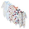 6 Pçs/set macacão de inverno das Crianças de Algodão de Manga Longa baby boy roupas de inverno Recém-nascidos infantil Macacões Dos Desenhos Animados menino macacão