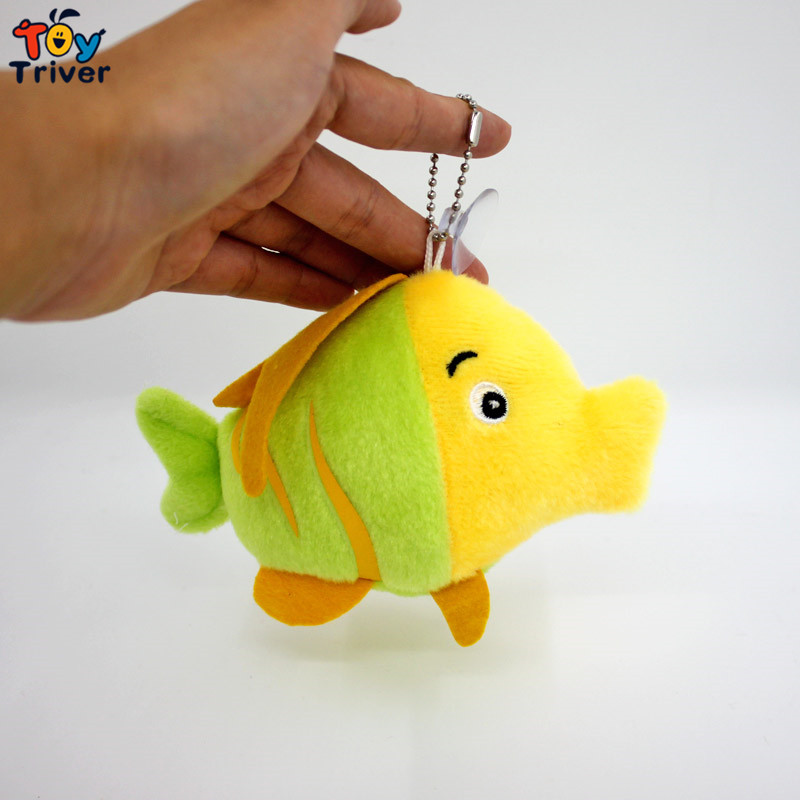 Wholesale 100pcs Kawaii Plush Fish Pendant Toys Doll Stuffed Ocean Wedding Party Birthday Christmas Gift Accessory Triver Toy stuffed animal 44 cm plush standing cow toy simulation dairy cattle doll great gift w501