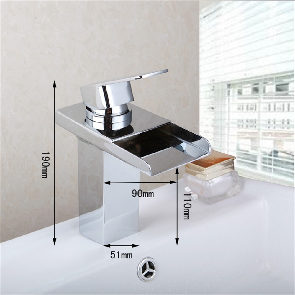 basin faucet for bathroom polished chrome soild brass washbasin faucets square spout waterfall tap mixer superfaucet bathroom faucet tap for bathroom basin faucet water tap washbasin taps for basin of bathroom