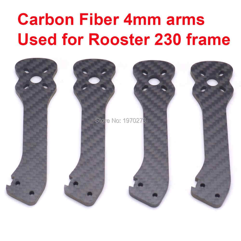 Full Carbon Fiber 4mm Arm Vervanging Spare armen voor Haan 230 225mm 5 Inch FPV Racing Drone Freestyle frame