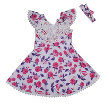 2017 New Brand Cute Toddler Infant Newborn Baby Girls Flower Cotton Dress Kids Summer Party Casual Floral Dresses