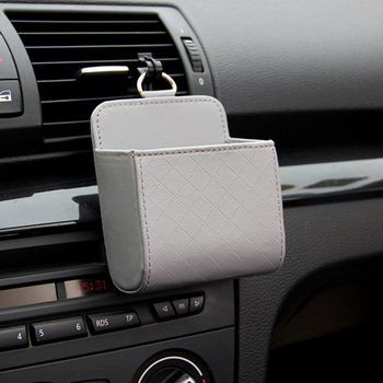 Car Organizer Box Bag Air Outlet Dashboard Hanging For Volkswagen Golf Ford Focus 2 3 Fiesta Mondeo Kuga Citroen C4 C5 image