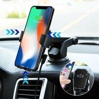 CASEIER автомобильное беспроводное зарядное устройство для iPhone X XR XS Max QI быстрая Беспроводная зарядка гравитационный автомобильный держатель ...