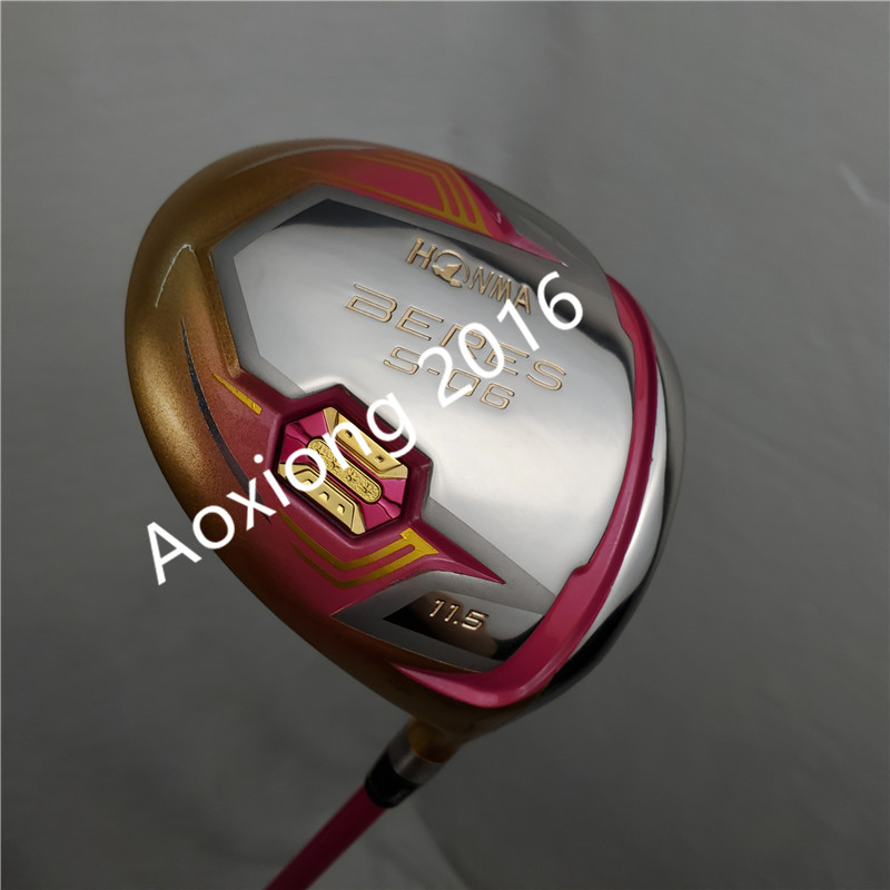 women's Golf clubs HONMA S 06 4 Star Gold color Golf driver 11.5 loft Graphite L flex driver Clubs Free shipping