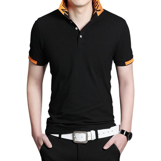 2015 Top moda Solid algodón de hombre Polo camiseta de verano de manga corta hombre Polo