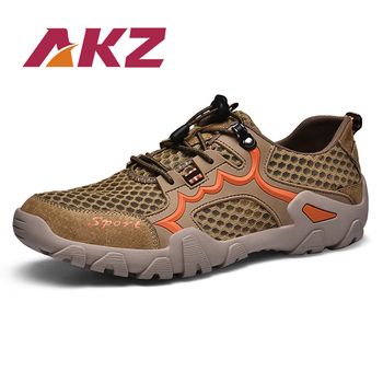 AKZ New Man Spring Summer Loafers Air Mesh casual shoes For Men Breathable Comfortable Climbing shoes Outdoor hiking shoes