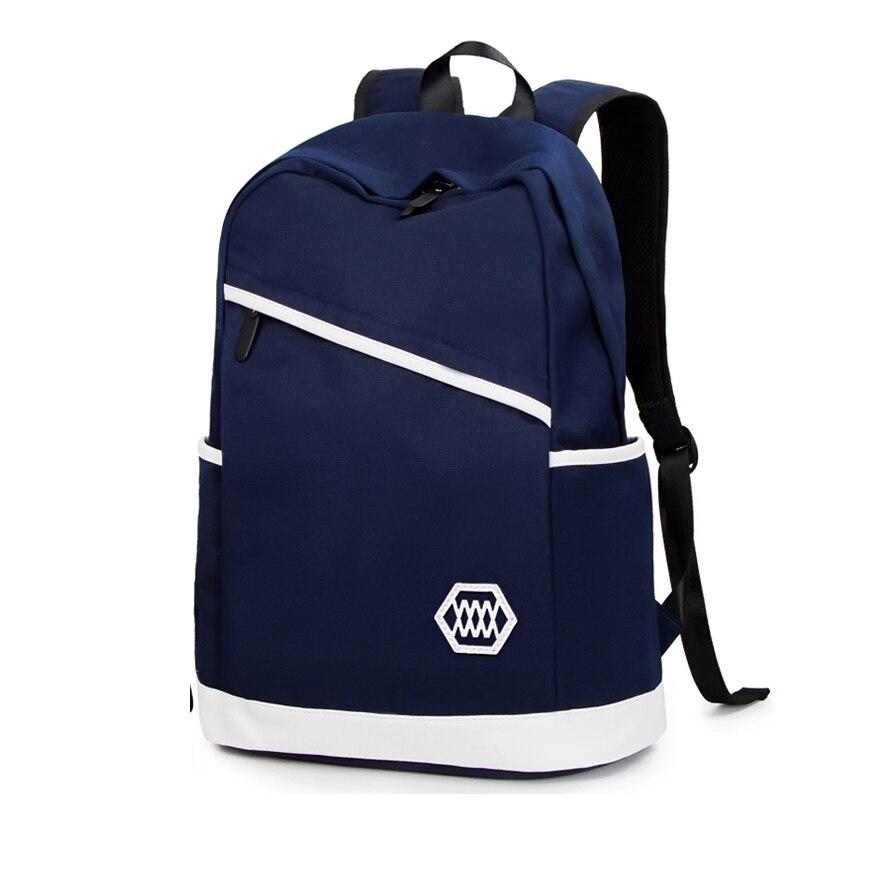 ФОТО New Arrival Fashion Mochila Masculina Simple Backpack Preppy Style School Mochila Bags For Teenage Men Travel Bags