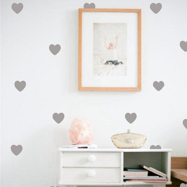 little hearts wall stickers wall decals, removable home decoration