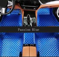 Левосторонний/правосторонний коврики для Volkswagen Beetle СС, EOS Golf Jetta Passat Tiguan Touareg 5D ковровое напольное покрытие для стайлинга автомобилей