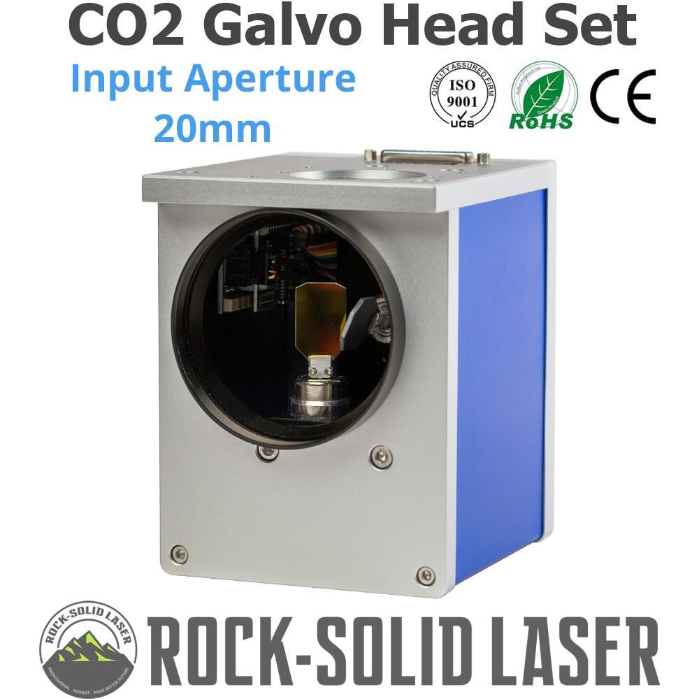 CO2 Galvo Digitalização Cabeça Entrada Abertura 20mm Scanner Galvanômetro CO2 Peças Da Máquina de Marcação A Laser 1064nm JD2808 com fonte de Alimentação conjunto