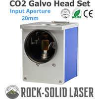 CO2 Galvo tête de balayage ouverture d'entrée 20mm galvanomètre Scanner CO2 Laser Machine de marquage pièces 1064nm JD2808 avec ensemble d'alimentation