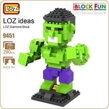 LOZ Diamond Blocks Superheroes Action Figure Toys Building Blocks Super Heroes Funny Bricks Educational Toy Anime
