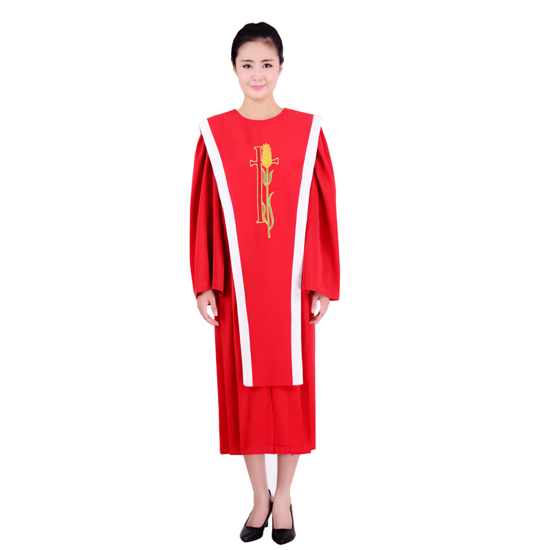 Hallelujah Blue Red Choir Gown Church Sing Robe Clergy Vestments ...