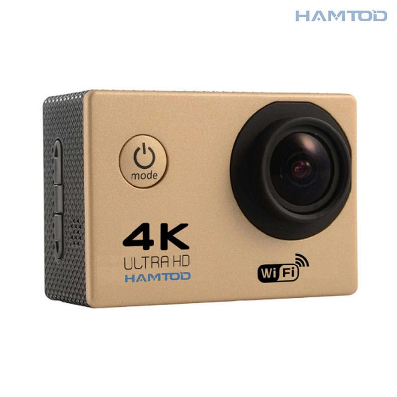 Angle-Lens Lcd-Screen Motion-Camera HAMTOD Waterproof 4K Wide HD Wifi with Case H9A 120-Degree
